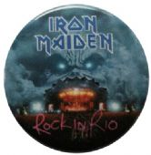 Iron Maiden - 'Rock in Rio Stage' Button Badge